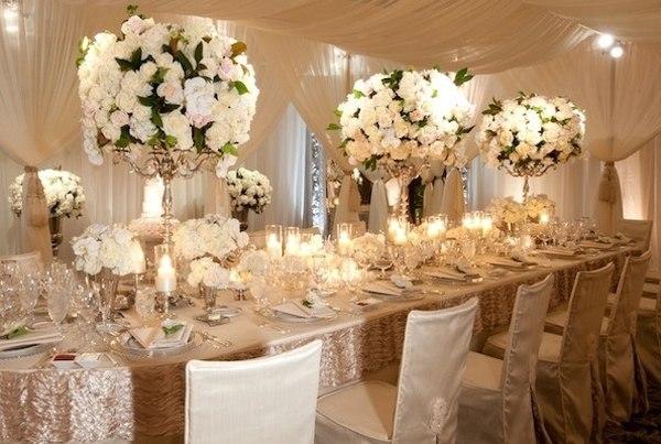 Свадебное оформление зала цветами